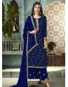 Royal Blue Georgette Designer Party Wear Palazzo Salwar Suit