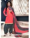 Alluring Red Designer Patila Salwar Suit