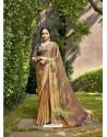 Multi Colour Designer Party Wear Chiffon Sari