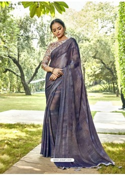 Pigeon Designer Party Wear Chiffon Sari