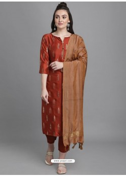 Maroon Designer Readymade Party Wear Kurti Palazzo With Dupatta