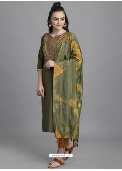 Mehendi Designer Readymade Party Wear Kurti Palazzo With Dupatta
