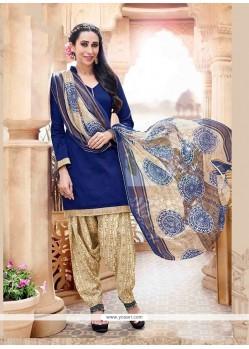 Karishma Kapoor Cotton Lace Work Designer Patiala Salwar Kameez