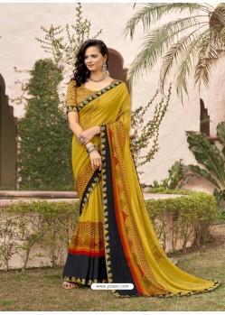 Corn Designer Casual Wear Georgette Sari