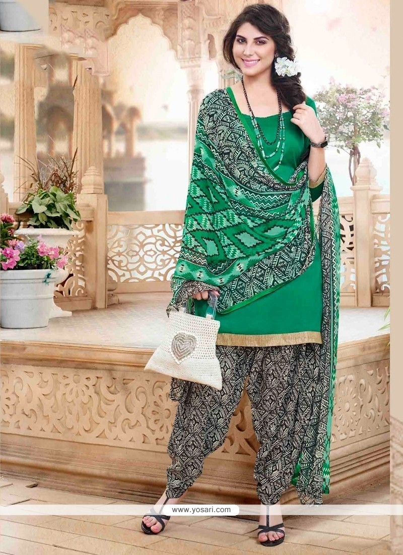 Urbane Green Designer Patiala Suit