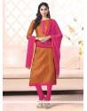 Festal Bhagalpuri Silk Churidar Salwar Suit