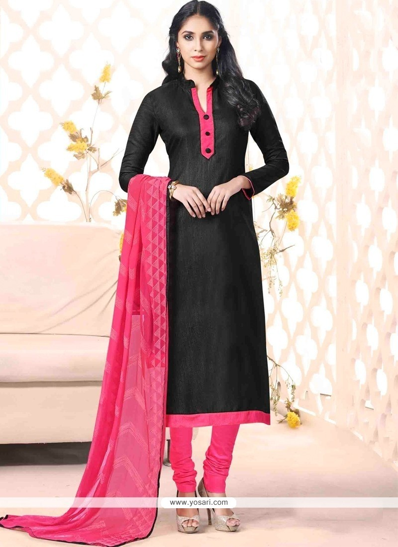 Fantastic Black Churidar Designer Suit