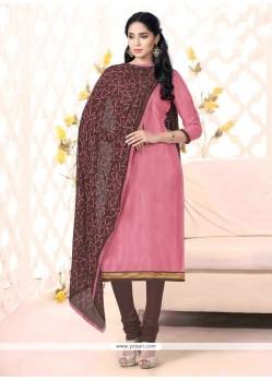 Especial Bhagalpuri Silk Lace Work Churidar Suit