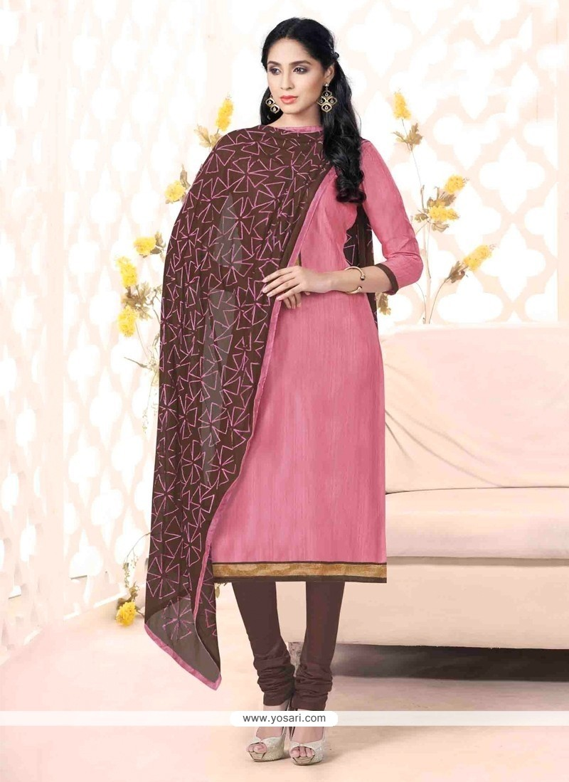 Especial Bhagalpuri Silk Lace Work Churidar Suit