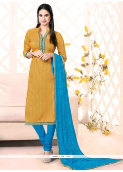 Sophisticated Bhagalpuri Silk Lace Work Churidar Salwar Suit