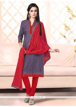 Splendid Lace Work Bhagalpuri Silk Churidar Designer Suit