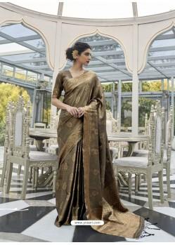 Camel Designer Classic Wear Handloom Weaving Sari