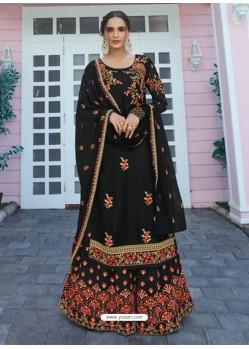 Black Designer Readymade Plus Size Salwar Suit
