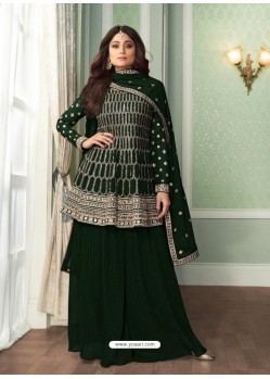 Black Bridal Designer Party Wear Real Georgette Palazzo Suit