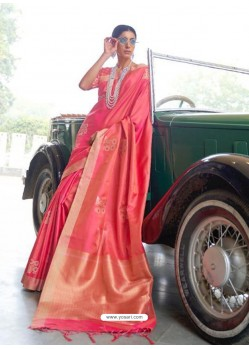 Fuchsia Designer Classic Wear Silk Sari