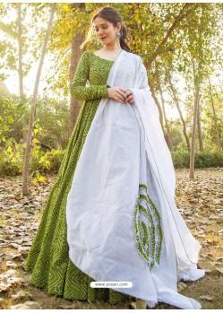 Mehendi Designer Readymade Kurti With Dupatta