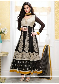 Genius Black Net Designer Anarkali Suits