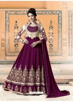 Deep Wine Bridal Designer Party Wear Pure Georgette Anarkali Suit