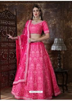 Rani Scintillating Designer Heavy Wedding Wear Lehenga