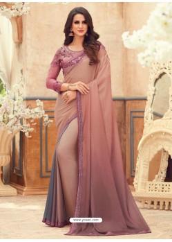 Multi Colour Designer Party Wear Chiffon Digital Print Sari