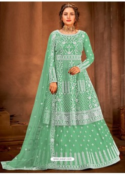 Sea Green Latest Designer Party Wear Wedding Suit