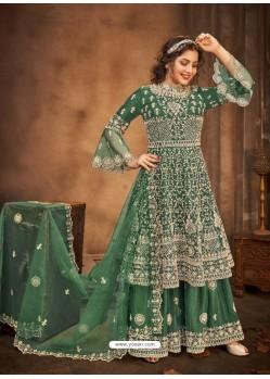 Dark Green Latest Designer Party Wear Wedding Suit