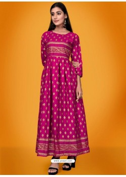 Rani Readymade Latest Long Gown Kurti