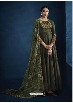Mehendi Latest Designer Party Wear Anarkali Suit