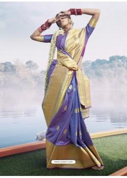 Violet Latest Designer Party Wear Sari