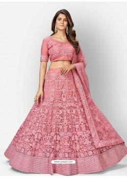 Pink Scintillating Designer Heavy Bridal Lehenga Choli