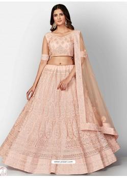 Baby Pink Scintillating Designer Heavy Bridal Lehenga Choli