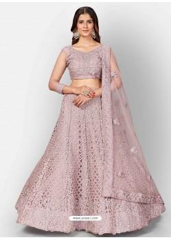 Dusty Pink Scintillating Designer Heavy Bridal Lehenga Choli