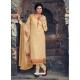 Cream Readymade Latest Designer Party Wear Straight Salwar Suit