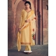 Light Yellow Readymade Latest Designer Party Wear Straight Salwar Suit