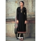 Black Readymade Latest Designer Party Wear Straight Salwar Suit