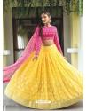 Yellow Scintillating Designer Heavy Wedding Lehenga Choli