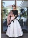 White Scintillating Designer Heavy Wedding Lehenga Choli