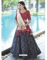 Navy Blue Scintillating Designer Heavy Wedding Lehenga Choli