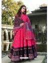Fuchsia Readymade Latest Designer Party Wear Anarkali Suit