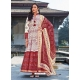 Off White Readymade Latest Designer Party Wear Anarkali Suit