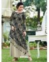 Dark Grey Designer Party Wear Western Gown