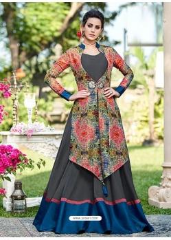 Multi Colour Designer Party Wear Western Gown