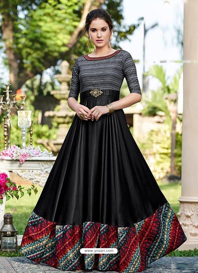 Black Designer Party Wear Western Gown