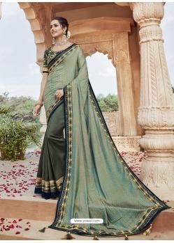 Multi Colour Designer Party Wear Silk Sari