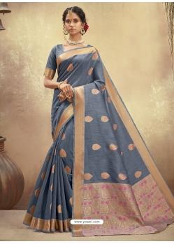 Pigeon Designer Party Wear Cotton Sari