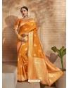 Mustard Designer Classic Wear Art Silk Sari