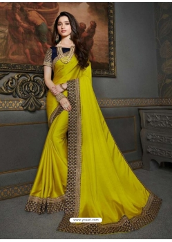 Corn Designer Classic Wear Art Silk Sari