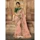 Peach Latest Designer Wedding Wear Sari