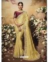 Light Yellow Latest Designer Wedding Wear Sari