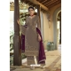 Taupe Designer Party Wear Palazzo Pakistani Suit